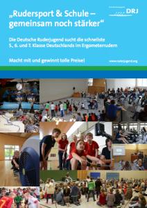 Aktionsplakat Rudersport und Schule